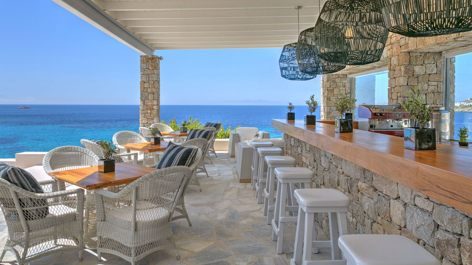 The Colonial Pool Restaurant & Bar - Santa Marina Resort Mykonos