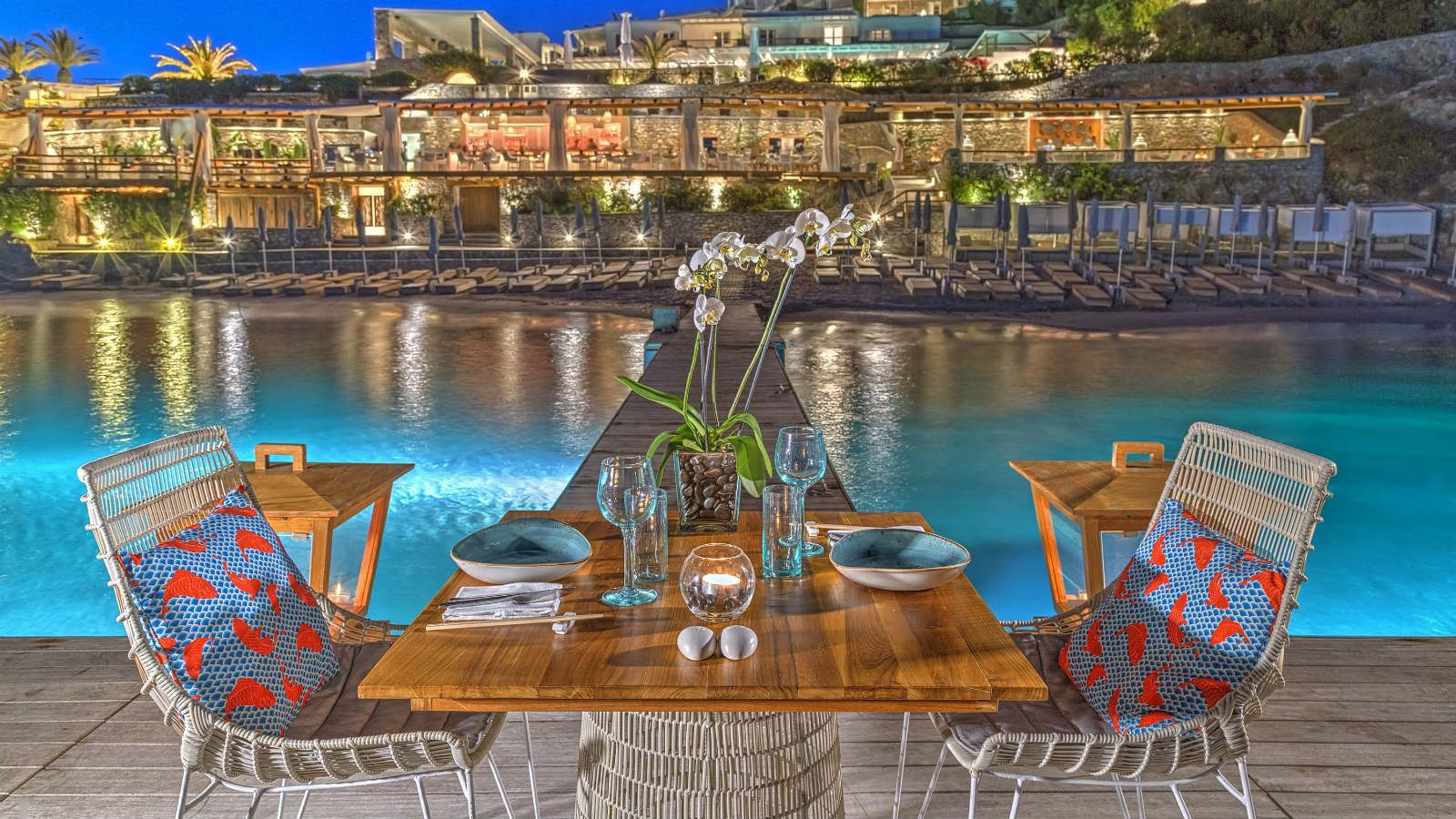 Private dining at Buddha Bar Beach - Santa Marina Mykonos