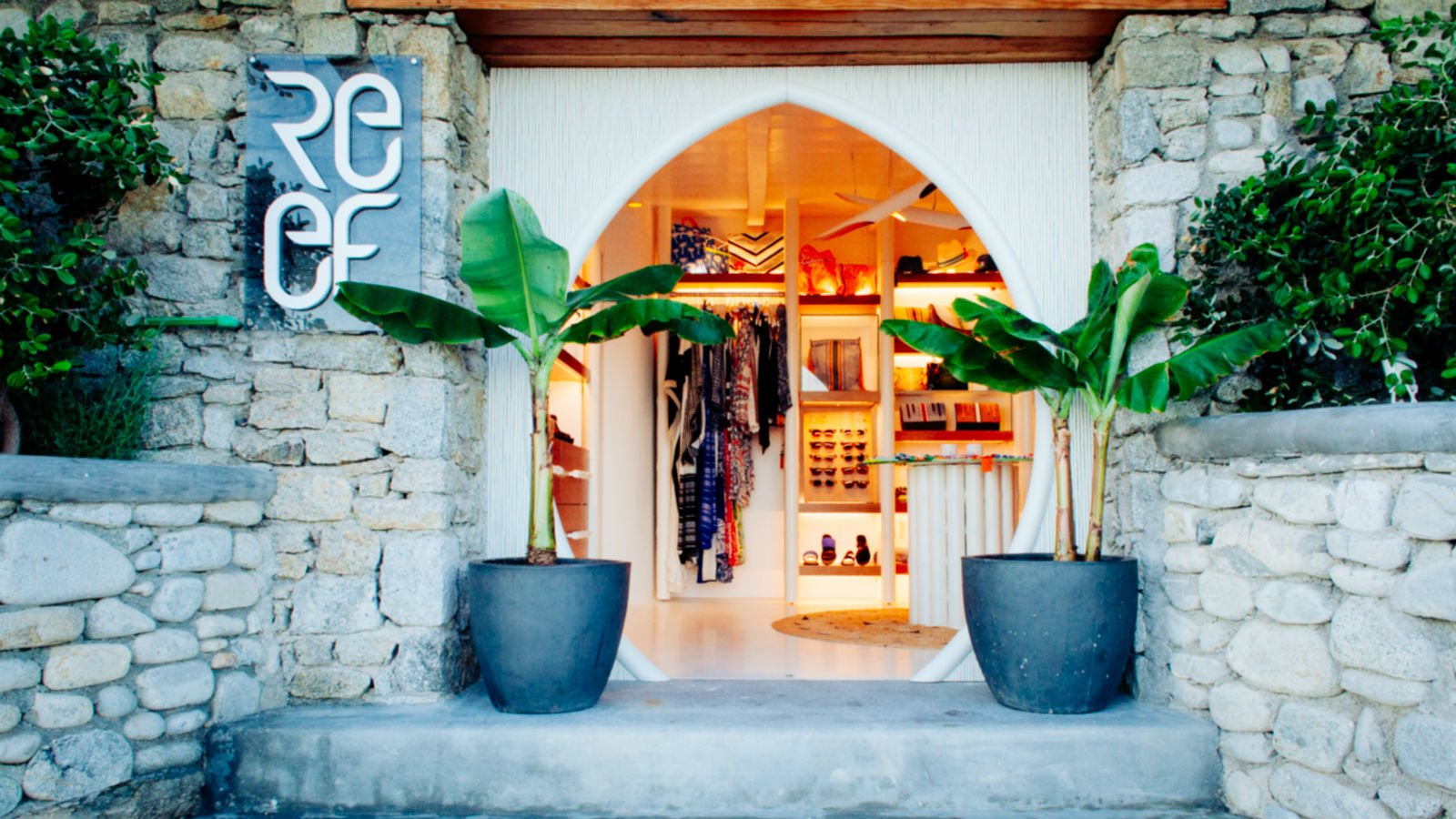 Reef Boutique at the private beach of Santa Marina Hotel Mykonos