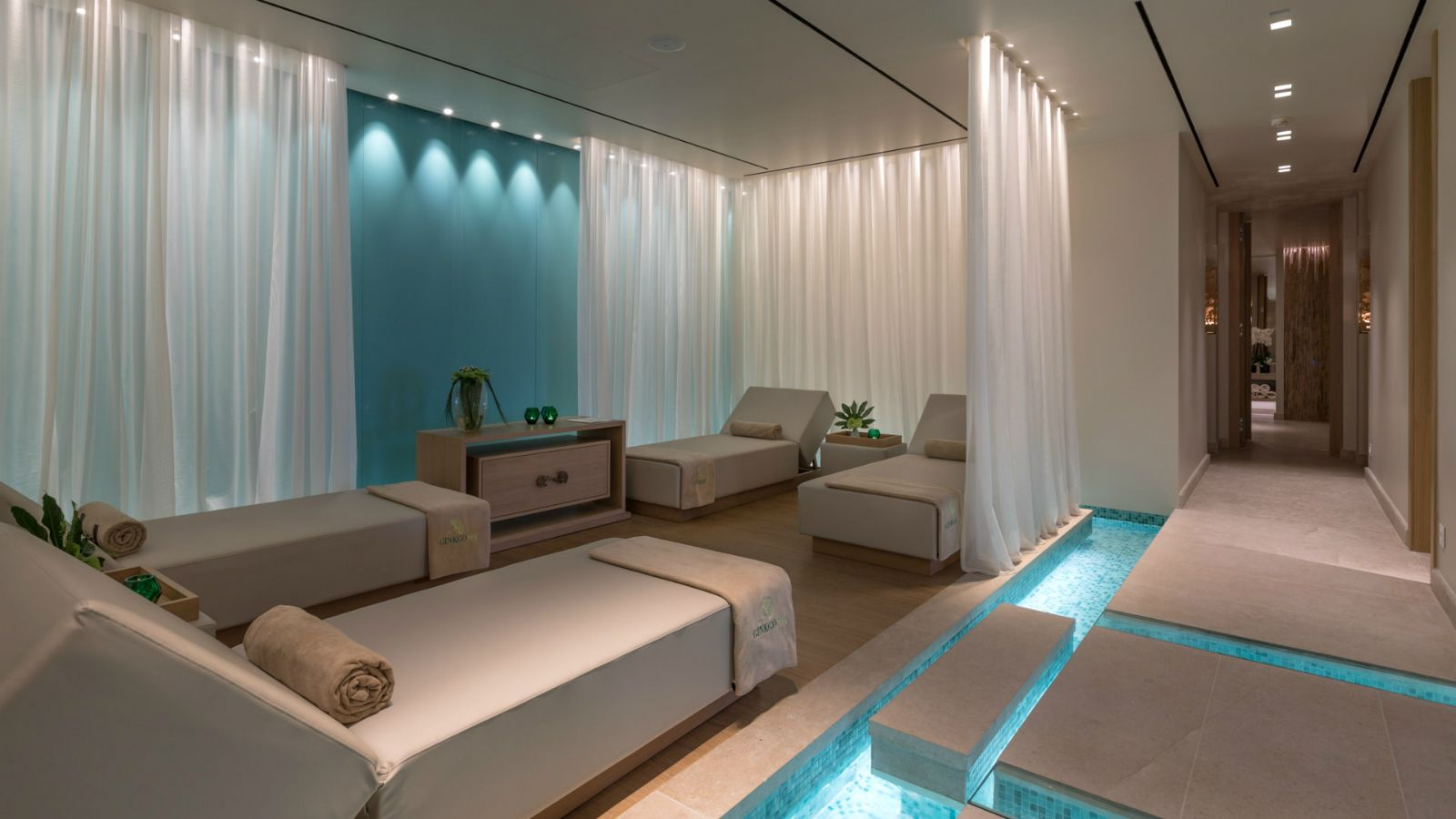 Relax area at the new Ginkgo Spa at Santa Marina Resort Mykonos The Luxury Collection (1)