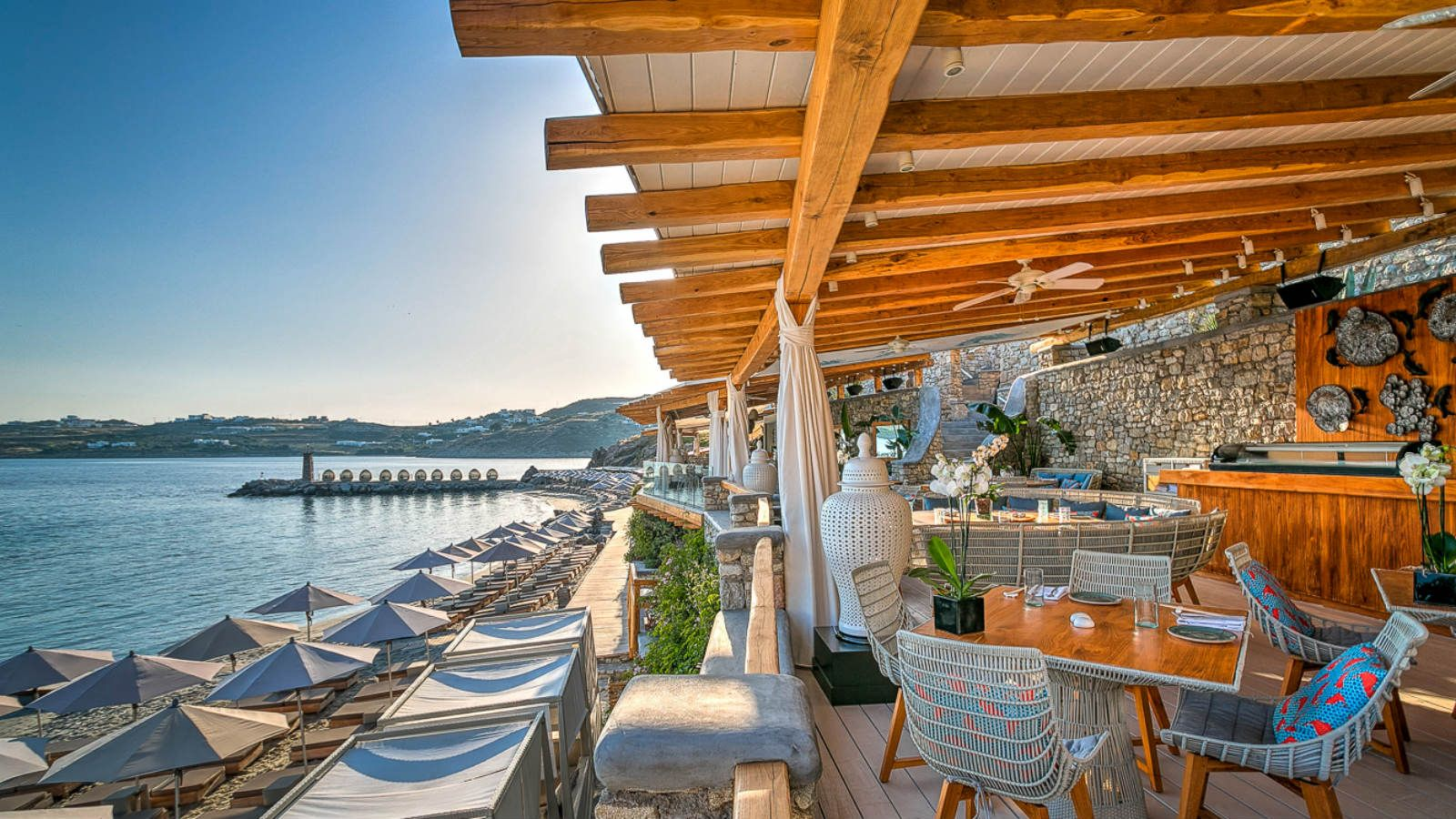 Buddha Beach Restaurant and Bar Mykonos -Santa Marina Luxury Hotel Greece
