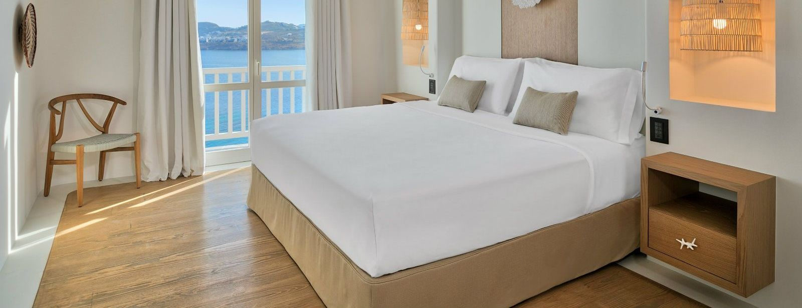 Villa Ruby Master Bedroom Santa Marina Resort Mykonos Luxury Hotel