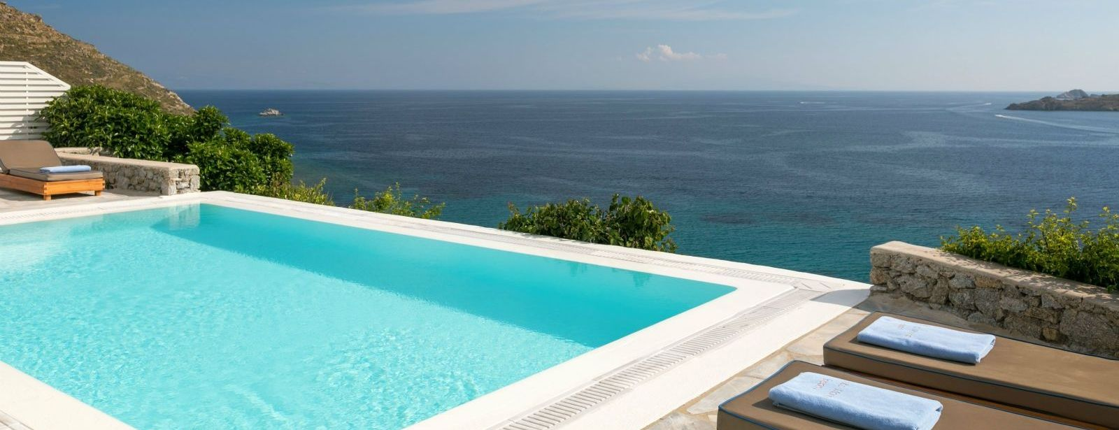 Villa Ruby Pool Sea view Santa Marina Resort Mykonos Luxury Hotel