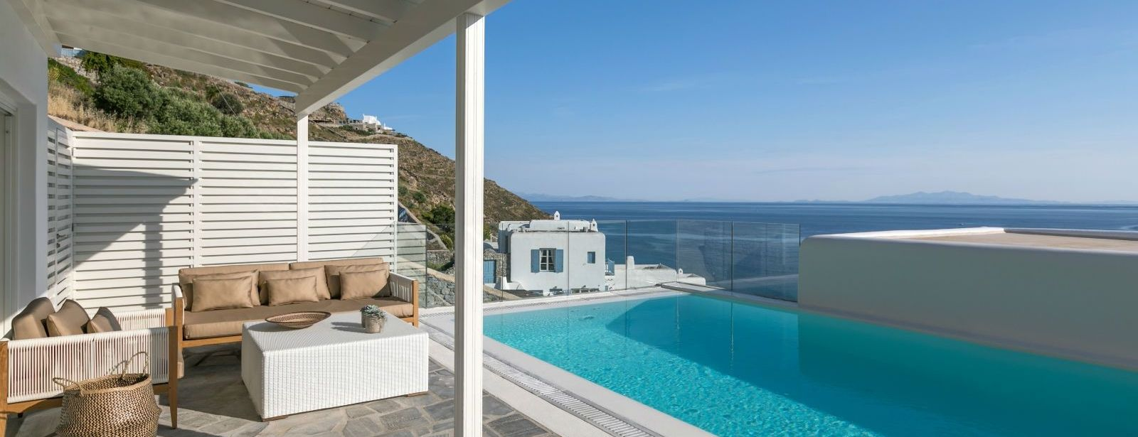 Villa Sapphire Pool Sea view Santa Marina Resort Mykonos Luxury Hotel